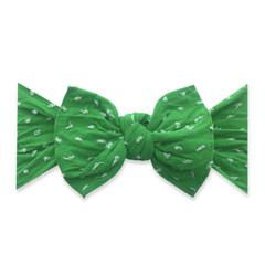 Baby Bling Bow Patterned Shabby Knot - Kelly Green