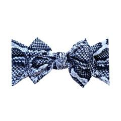 Baby Bling Printed Bow Knot - Snakeskin