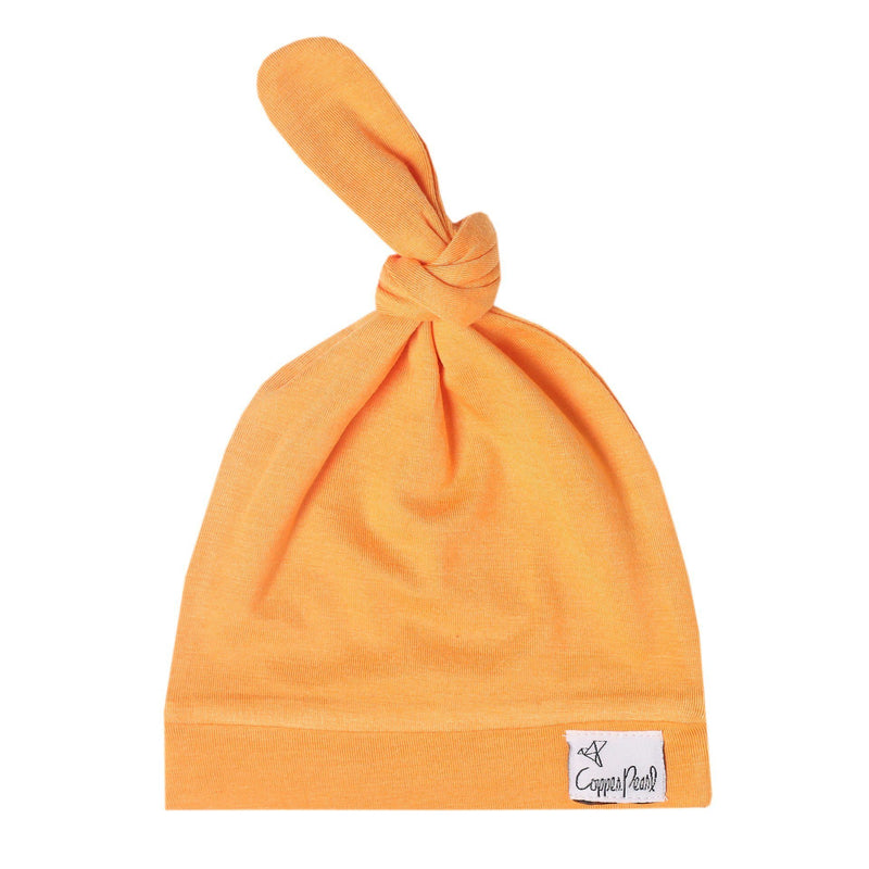 Top Knot Beanie for Infants - Solar