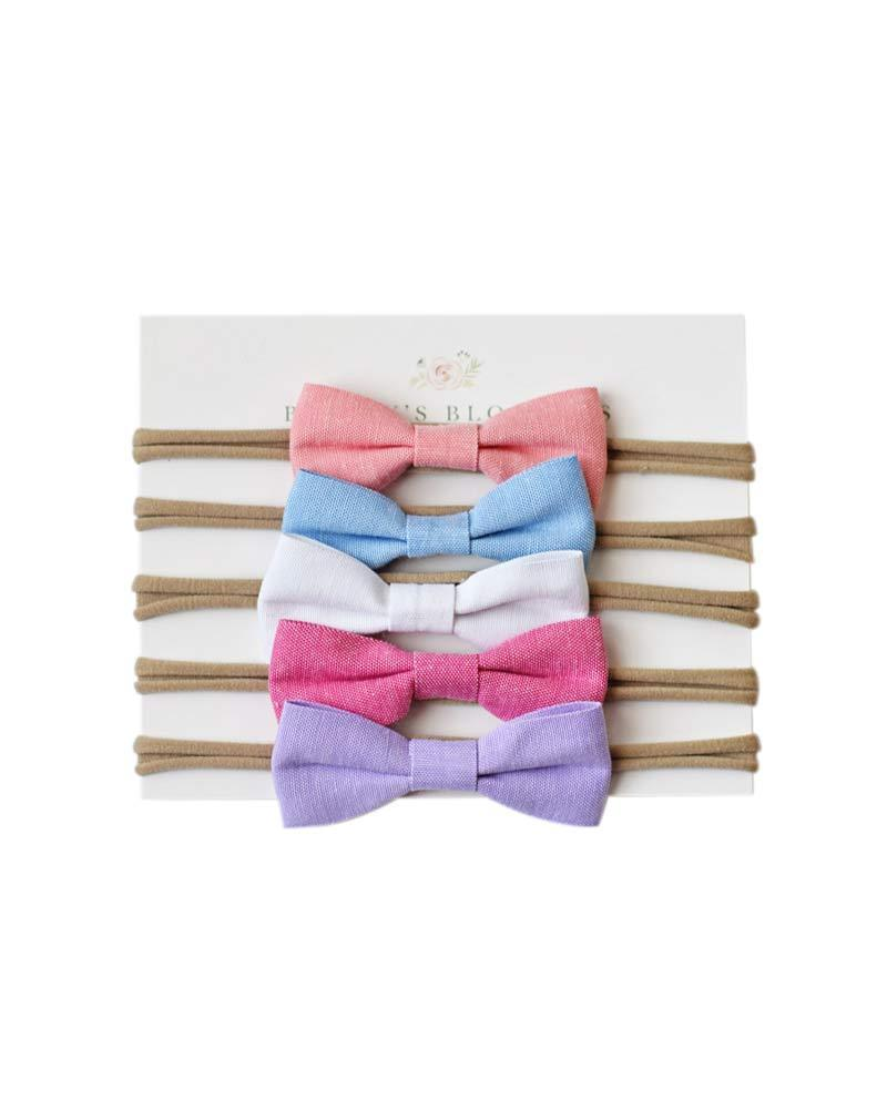 Linen Headband Bow - Spring Set