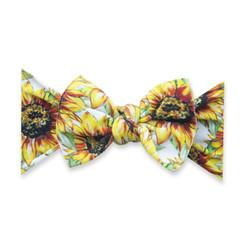 Baby Bling Printed Bow Knot - Golden Sunflowers