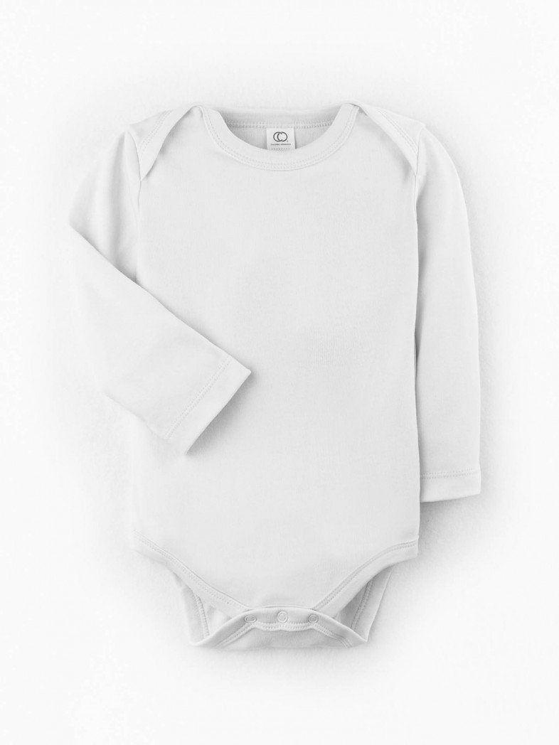 Organic Cotton Baby Bodysuit - White