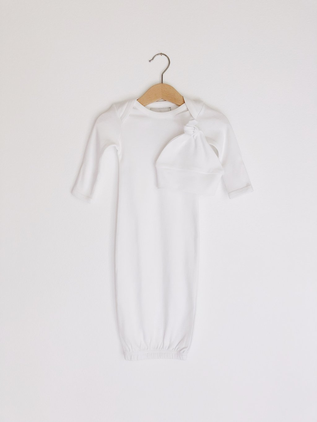 Organic Cotton Baby Sleeper Gown Set - Solid Colors – Hurleigh Lane
