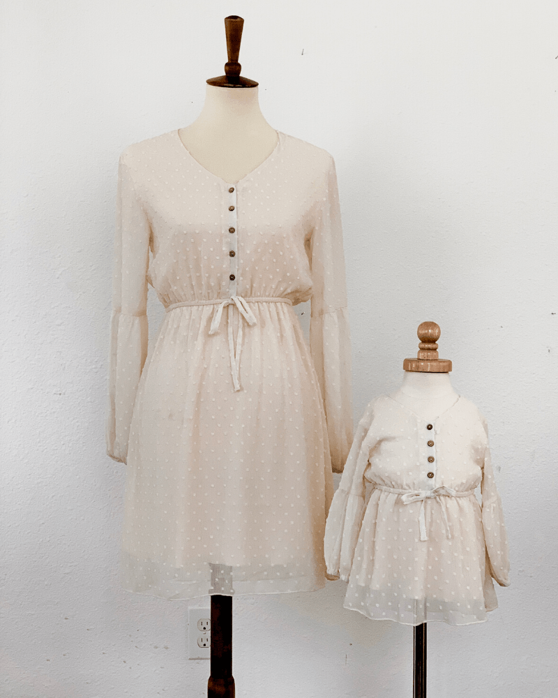 Mommy and Me Dress Windsor Dot - Cream