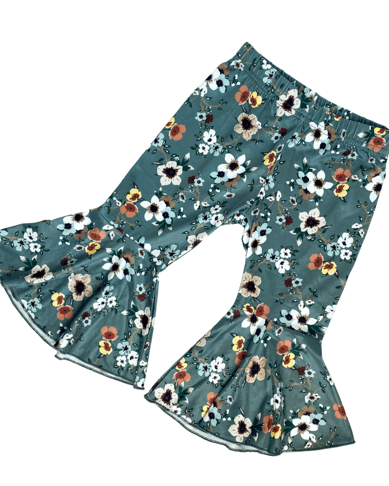 Bell Bettoms - Winter Blue Floral