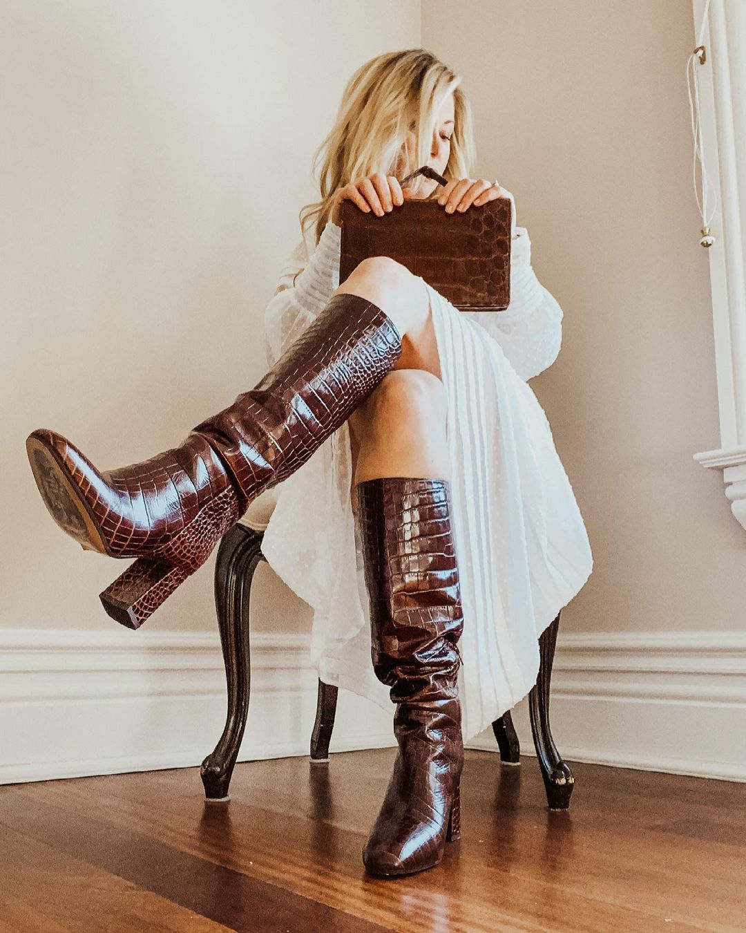 Absolutely loving these croc embossed leather boots from Inez. They make the most stylish and actually COMFORTABLE shoes and boots.