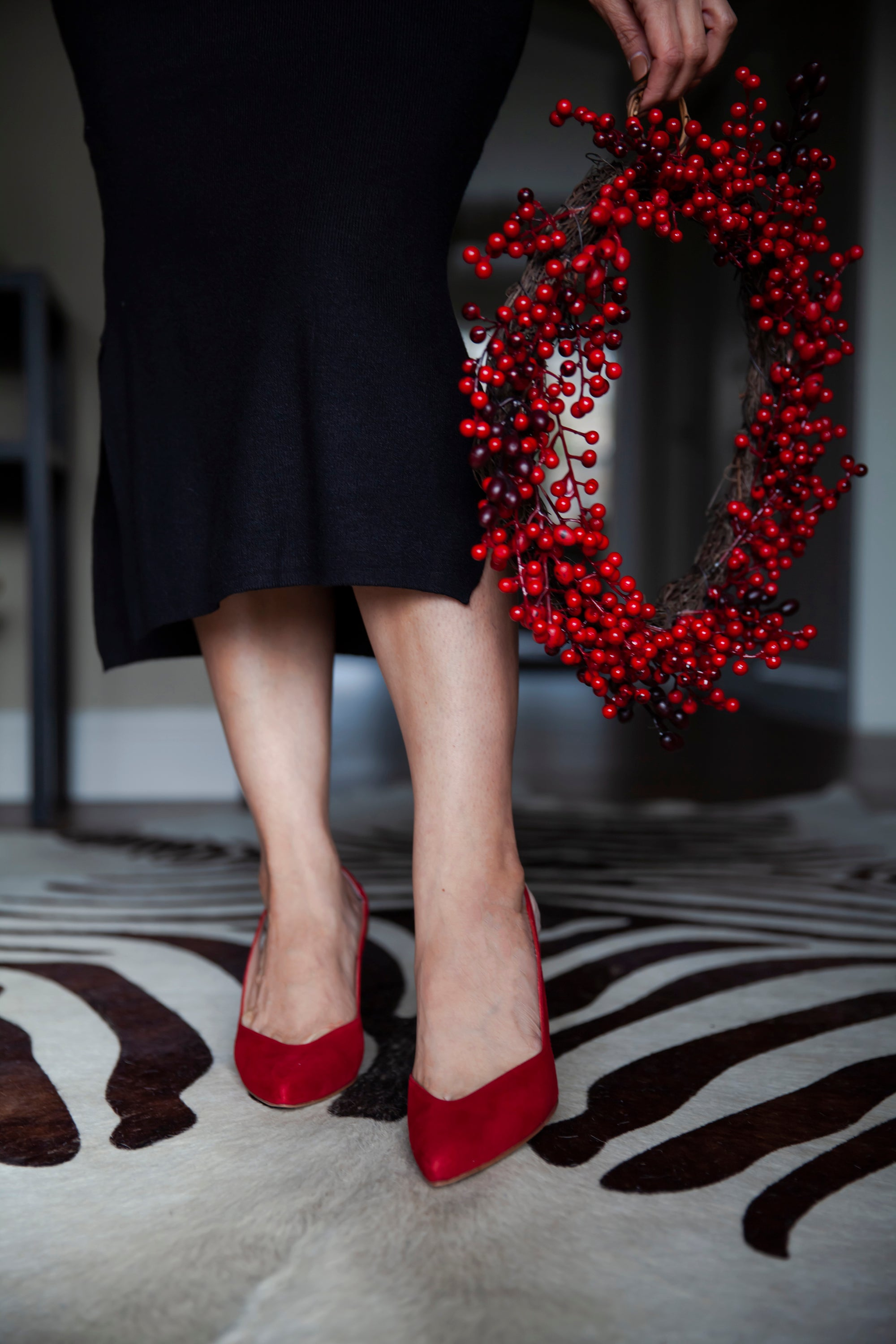 I'm in love with Inez and their incredible collection of heels. The Mia's bright red and the silky suede make a true statement!