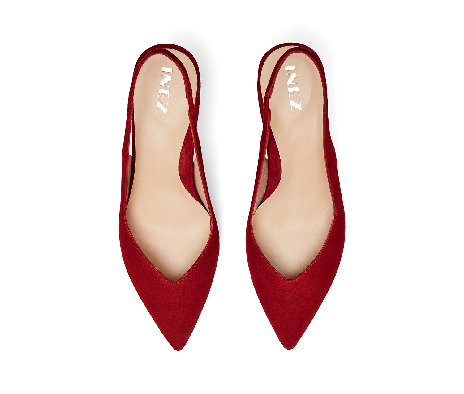 Mia: Deep Red Suede