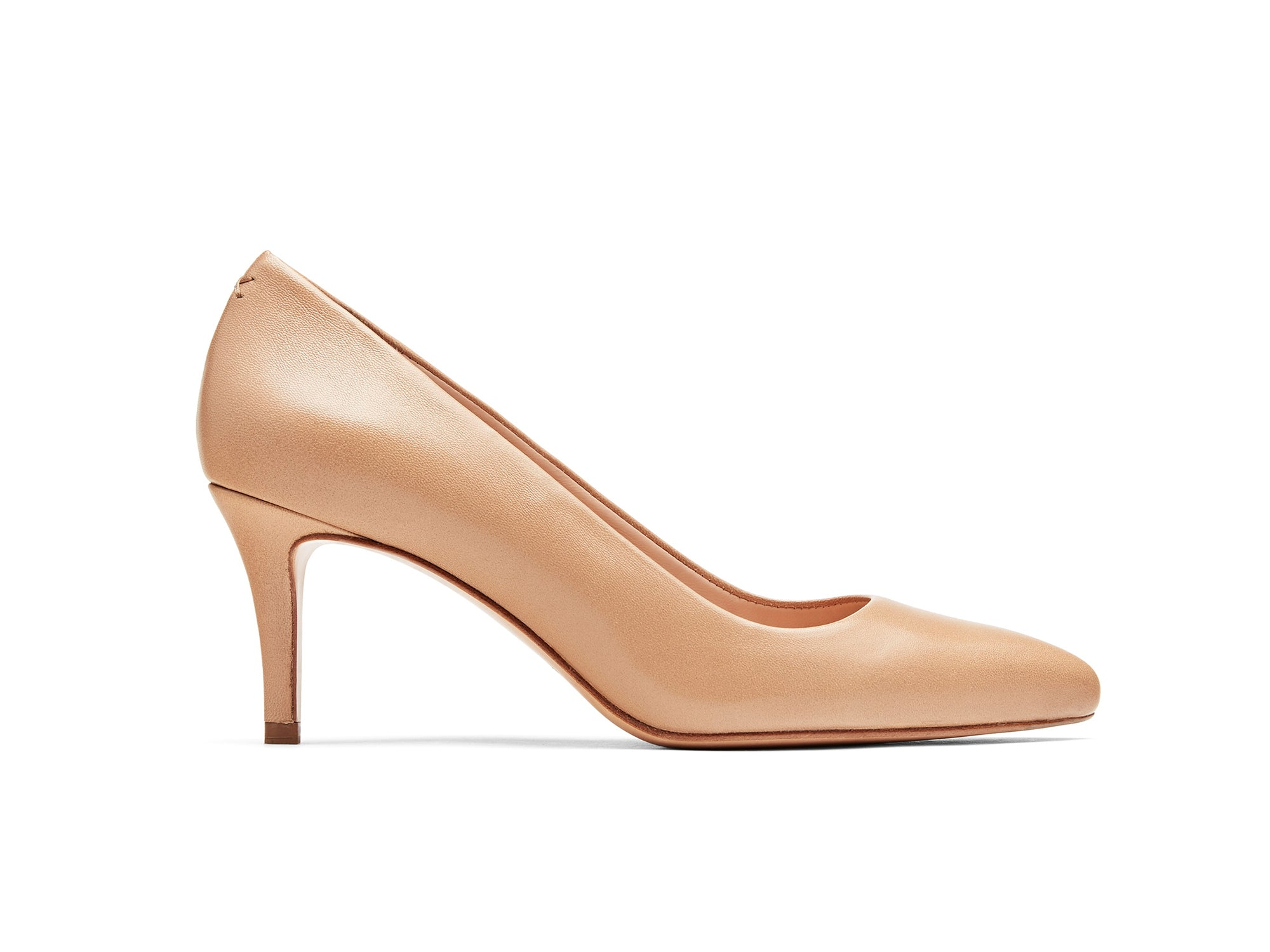Lola Pumps in Almond Nappa