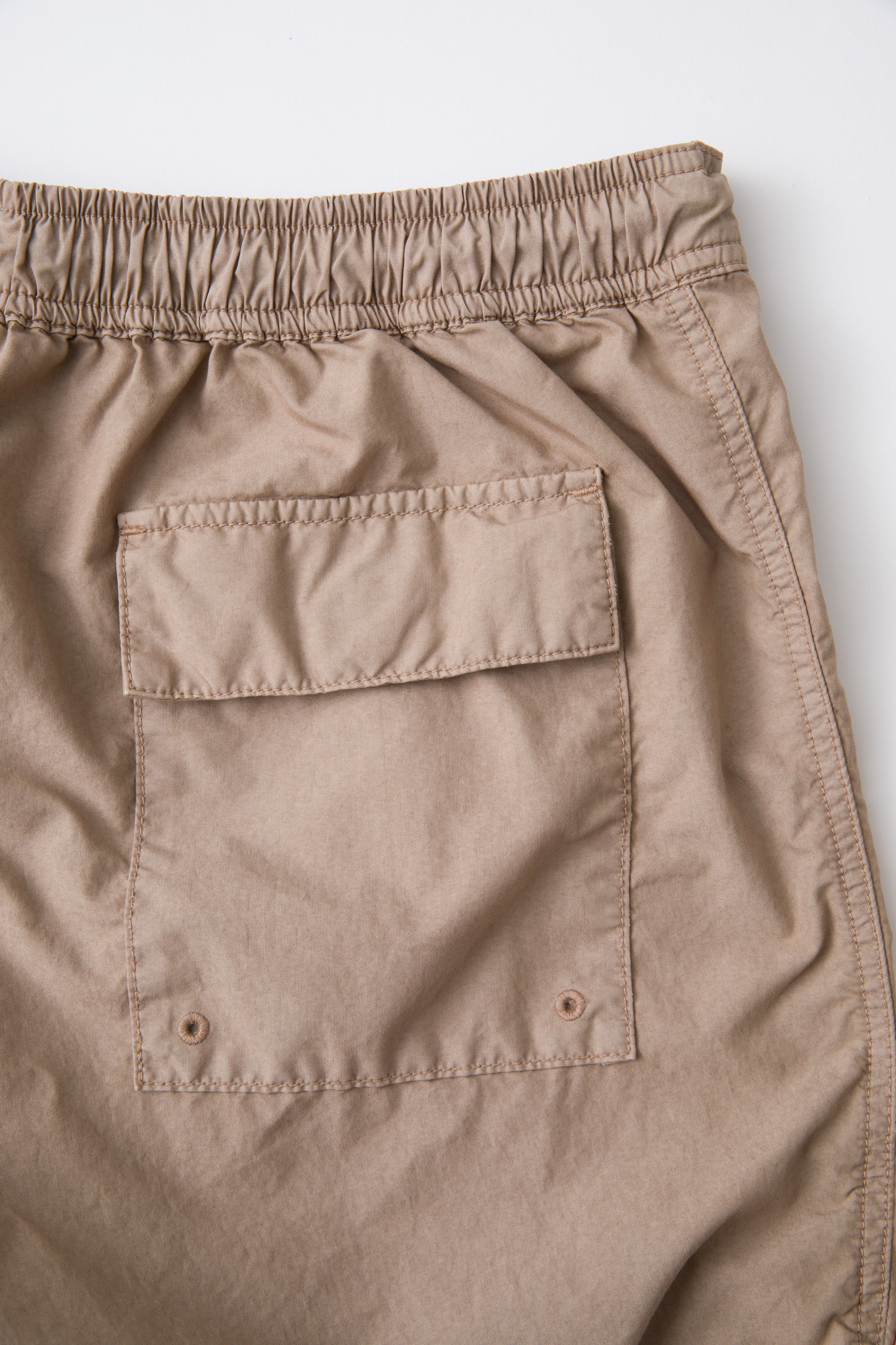 Men's Cotton Nylon Beach Short Khaki