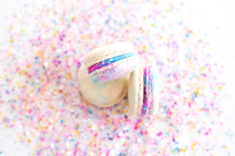 Unicorn Macarons: The Unicorn Macarons Made with Safe and Sparkling Edible Glitter Sprinkles by Bakery Bling