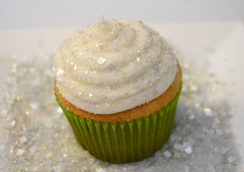 Bakery Bling Diamond Edible Glitter Sugar Sprinkles Make a Snow Effect on Cupcakes, Cookies, Cakes and more!