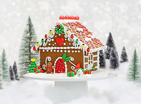 Red Gingerbread House Decorating Kit Bakery Bling Edible Glitter Christmas