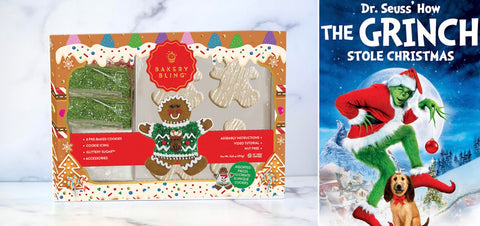 The Grinch with Gingerbread Man Designer Cookie Kit