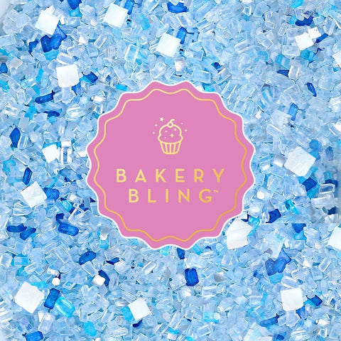 Bakery Bling Snow Queen Edible Glitter Glittery Sugar Sprinkles for Baking Cakes, Cookies, Cupcakes, and more. Frozen Elsa birthday party. Winter onederland. Winter cake. Snowflake cake. Glitter.