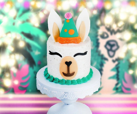 Llama Cake Decorating Kit and Edible Cake Topper from Bakery Bling