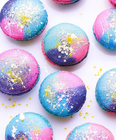 Rainbow Unicorn Magic Macarons: Macarons Decorated with Bakery Bling Safe 100% Edible Gold Glitter Dust