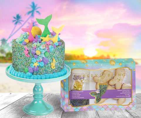 Mermaid Cake and Cookie Decorating Kit: Easy Quick Mermaid Birthday Party Desserts