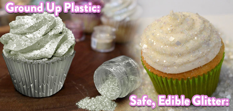 The Difference Between Safe, Edible Glitter that is Actually Edible and Dangerous Disco Dust Edible Glitter made of Plastic Craft Glitter. Bakery Bling Glittery Sugar is Safe to Eat!