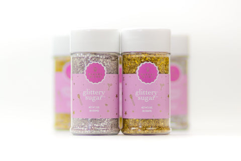 Glittery Sugar Edible Glitter Sprinkles Metallic Gold Metallic Silver Sprinkle Shakers