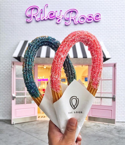 Edible Glitter Churros made with Bakery Bling Glittery Sugar Sprinkles by The Loop Churros and Riley Rose Store
