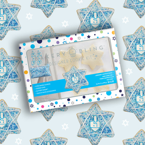 Hanukkah Designer Cookie Kit by Bakery Bling