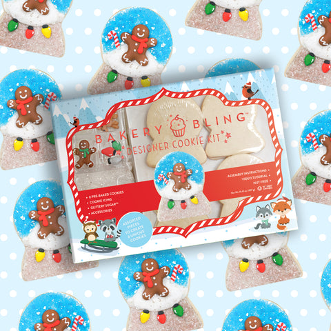 Snowglobe Designer Cookie Kit by Bakery Bling