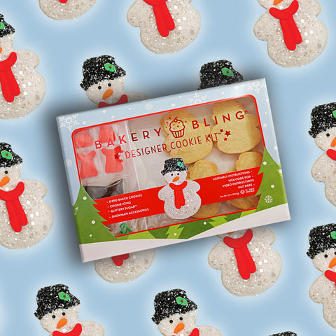 Snowman Designer Cookie Kit by Bakery Bling