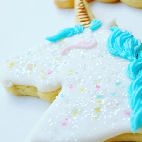 Elegant Unicorn Sugar Cookies with Bakery Bling Unicorn Confetti Edible Glitter Sprinkles
