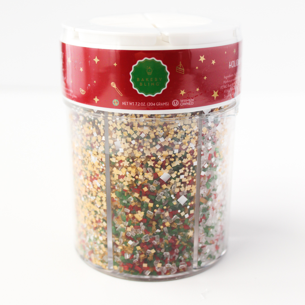6 Assorted Holiday Favorites Collection of Bakery Bling Glittery Sugar™