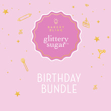 Bakery Bling Birthday Bundle - Edible Glitter Sprinkles for Baking and Cake Decorating