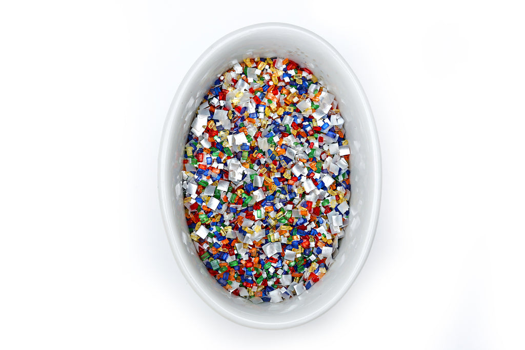 Carnival Queen Blinged-Out Glittery Sugar - Bakery Bling Edible Glitter Vegan Sprinkles for Cake Decorating and Baking