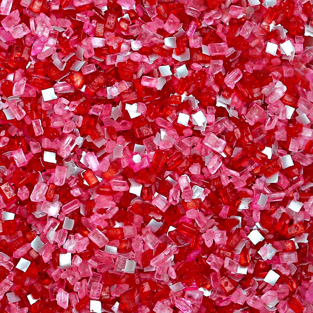 Bakery Bling Edible Glitter Cupid's Kiss Glittery Sugar - Red and Pink Valentine's Day Sugar Sprinkles with Edibe Glitter