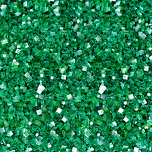 Emerald Green Bakery Bling Glittery Sugar Sprinkles with Silver Edible Glitter