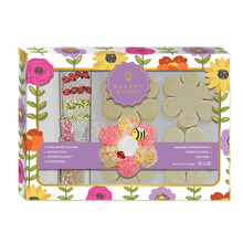 Bakery Bling Flower Designer Cookie Kit: Cookie Decorating Kit with Prebaked Cookies Icing Sugar Sprinkles with Edible Glitter