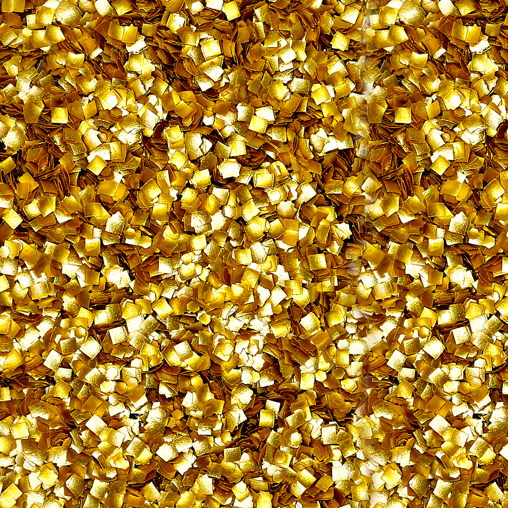 Bakery Bling Edible Glitter Gold Squares Edible Bling Cake Decorating and Baking Supplies