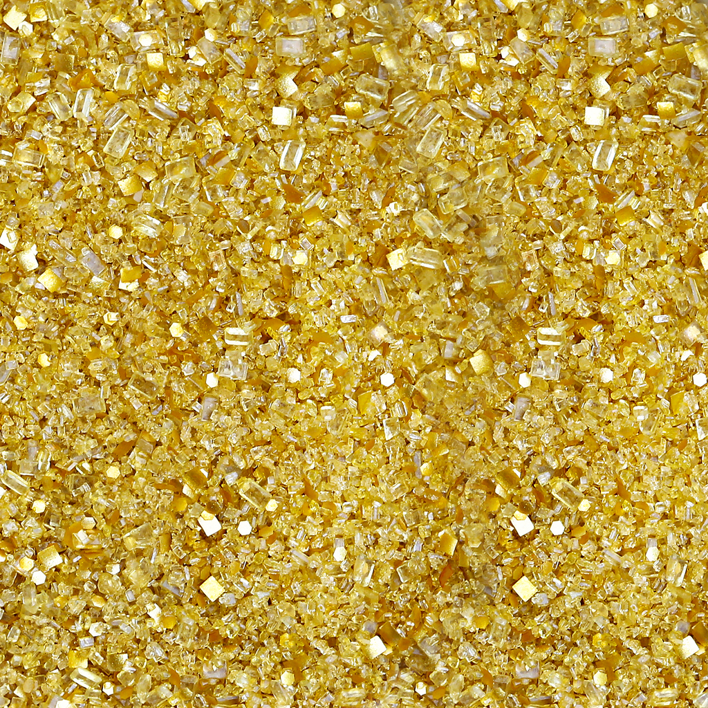 Gold Glitter Sugar | Edible Glitter Bakery Bling Sprinkles with Gold Edible Glitters