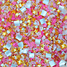 Edible Glitter Gold Stars and Pink Glitter Sugar | Bakery Bling Hollywood Hills Glittery Sugar Sprinkles