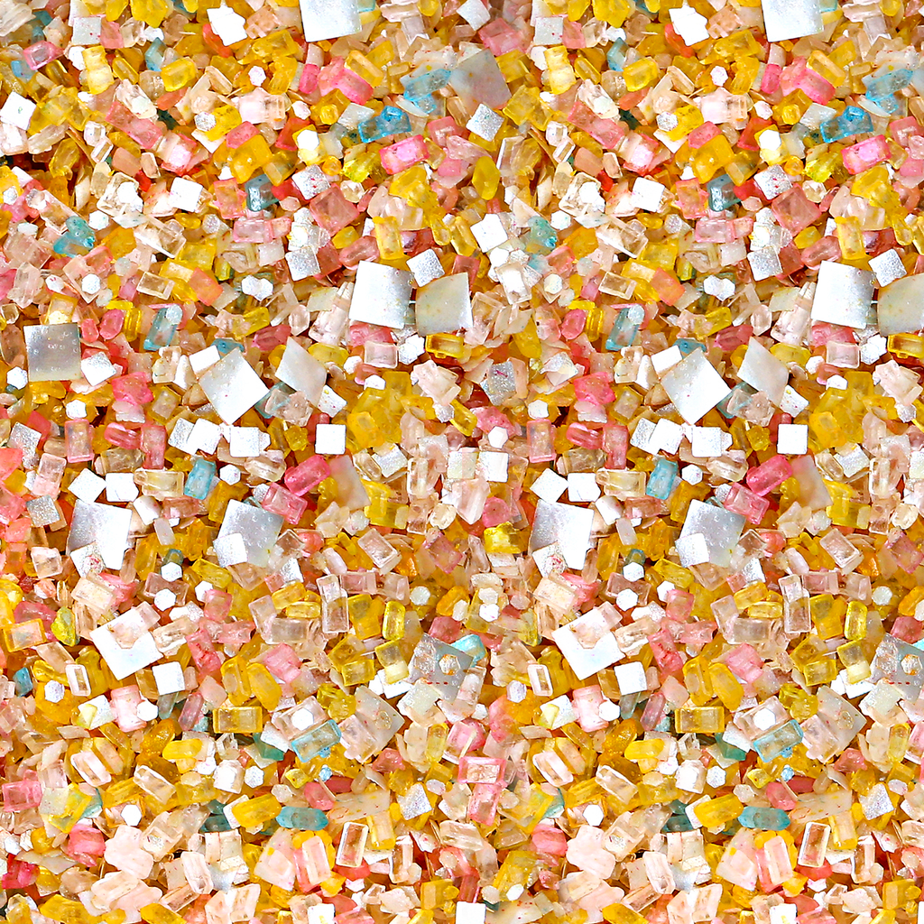 Bakery Bling It's a Party Blinged-Out Yellow Multicolor Edible Glitter Glittery Sugar Sprinkles for Baking and Cake Decorating