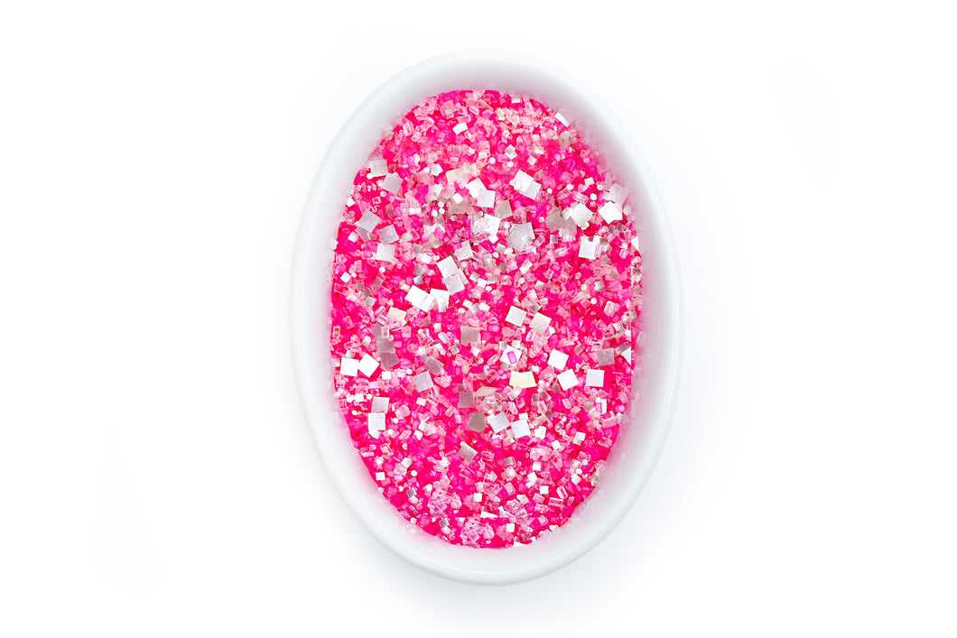 Bakery Bling Hot Pink Edible Glitter Glittery Sugar Sprinkles Love Potion Blinged-Out for Baking Cakes, Cookies, Etc.