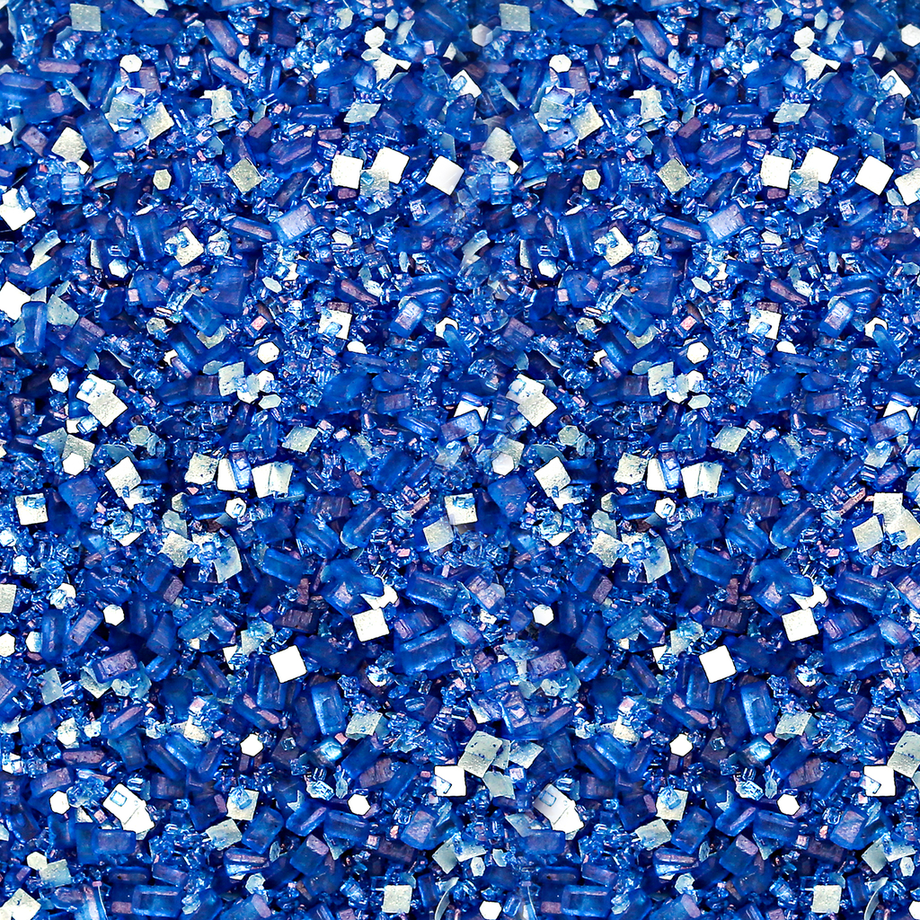 Royal Blue Bakery Bling Glittery Sugar Sprinkles with Silver Edible Glitter
