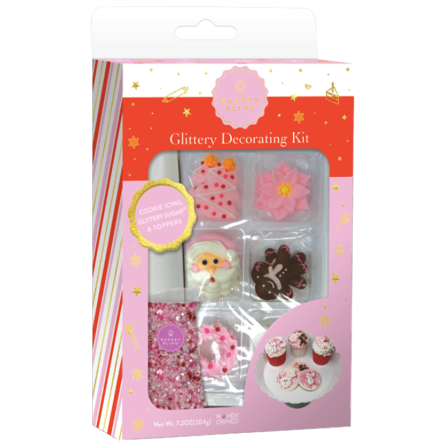 Pink Christmas Designer Decorating Kit