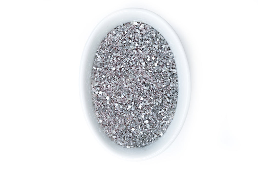 Bakery Bling Glittery Sugar Metallic Silver Edible Glitter Sugar Sprinkles for Baking & Cake Decorating
