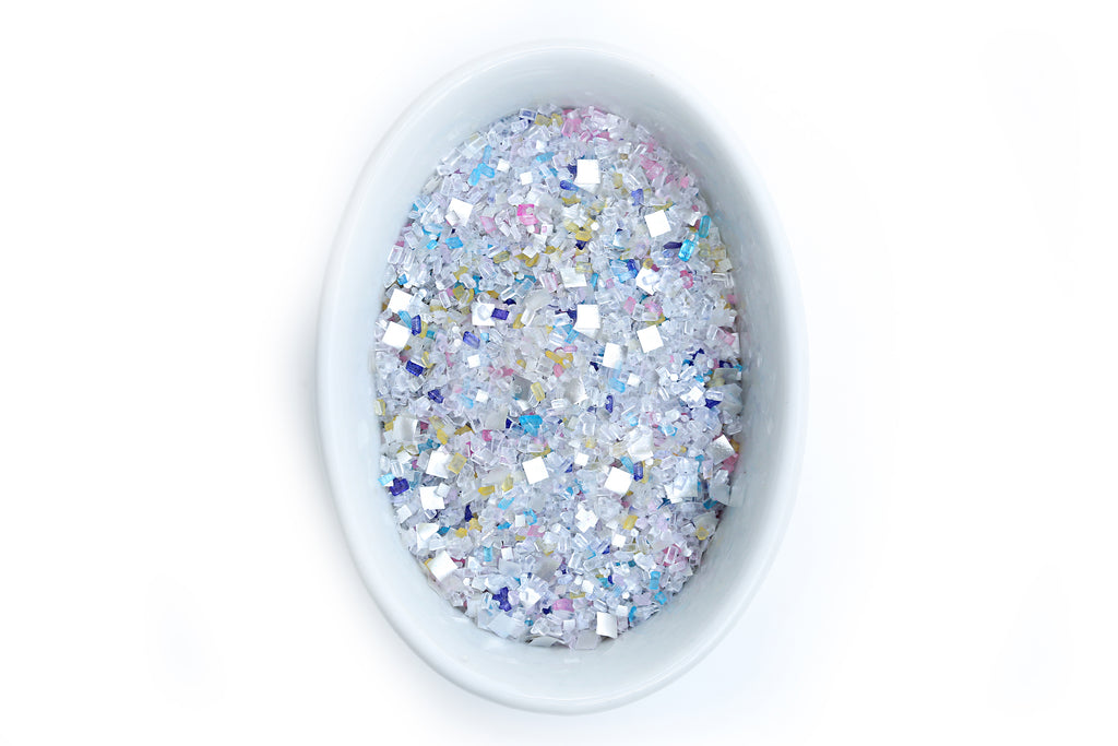 Unicorn Sprinkles Bakery Bling Unicorn Confetti Glittery Sugar with Silver Edible Glitter