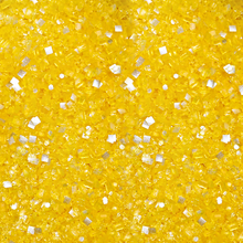 Bakery Bling Yellow Glittery Sugar Sprinkles with Silver Edible Glitter