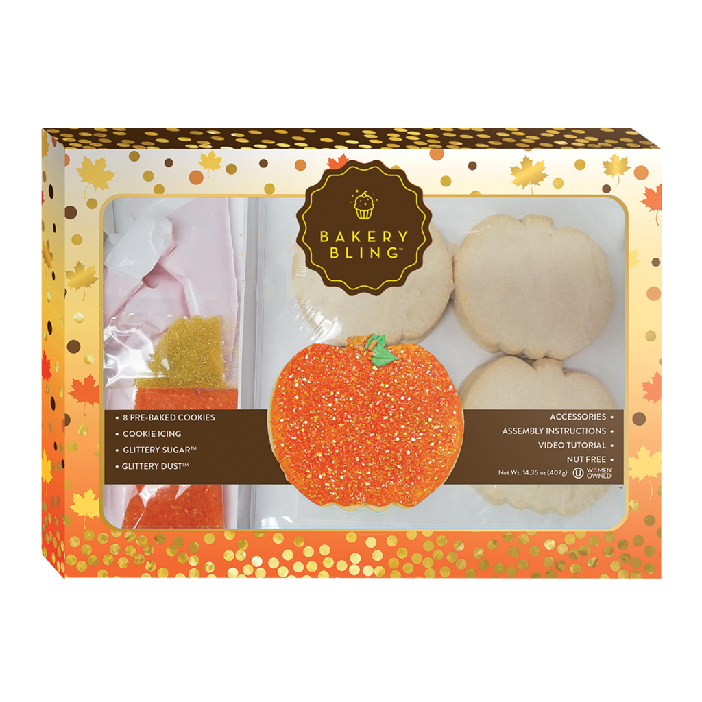 Pumpkin Cookie Decorating Kit for Fall and Halloween: Designer Cookie Kits by Bakery Bling