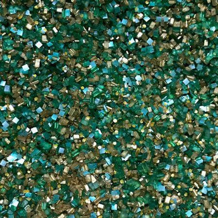 Bakery Bling Emerald Green and Gold St. Patrick's Day Luxe Glittery Sugar Sprinkles with Edible Glitter