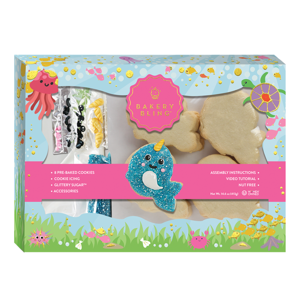 Narwhal Designer Cookie Kit by Bakery Bling Summer Baking Activities for Kids