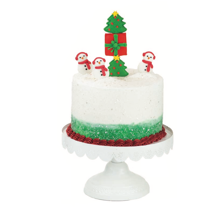 Holiday Cheer Designer Cake Décor