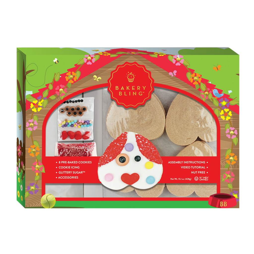 Puppy cookie decorating kit for Valentine's Day: Puppy love designer cookie kit by Bakery Bling
